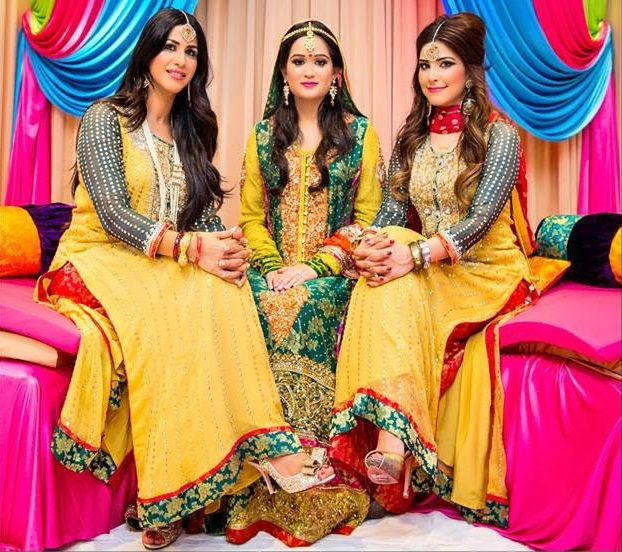 Yellow Mehndi Dress For Wedding
