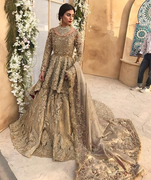bridal dress for walima day